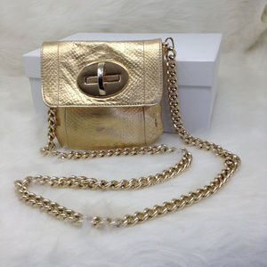 Gold Clutch Crossbody Evening Bag